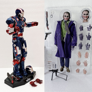 HC Hot Toys Joker Figure Avengers Movie MMS195 Iron Man Moveable Real Clothes Joker Action Figure Collectible Model Toys 12inch(China)