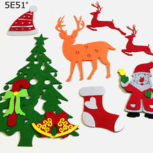 Non-woven three-dimensional color Christmas series wall stickers Festive dress up недорого