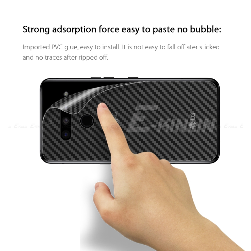 Carbon Fiber Rear Screen Protector For LG G7 ThinQ G6 V50 5G V40 V20 V30 V30S Plus G5 SE Back Cover Protective Film Not Glass in Phone Screen Protectors from Cellphones Telecommunications