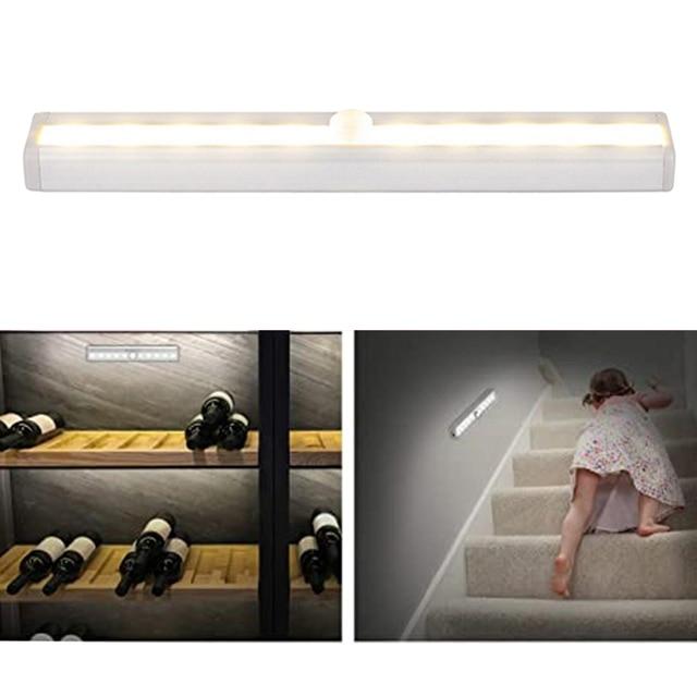 pir светодиодный светильник с датчиком движения шкаф кровать фотография