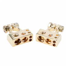 2PCS Car battery Terminal clip  0/4/8 Awg Gauge Positive Negative Battery Clamps Connectors