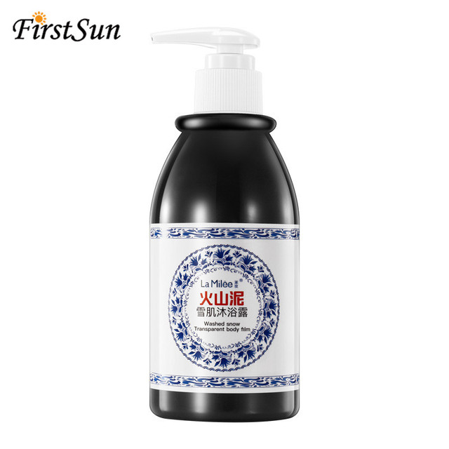 Whitening body shower gel Volcanic Mud Shower Gels Whole Body Fast Whitening Body wash Remove gel Whitening cleaning gel 4
