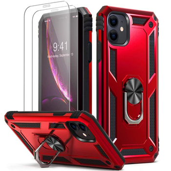 for iPhone X XS XR 11 Pro 7 8 Max Case,Military Grade Armor 15ft. Drop Tested Protective Ring Magnetic Car Mount Kickstand Case