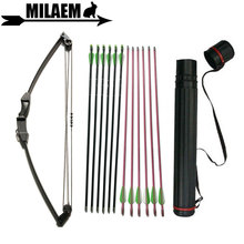 12lbs Archery Children Compound Bow And Arrow Set Outdoor Training For Kids Gifts Shooting Accessories