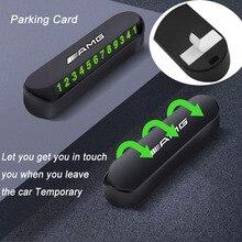 1 шт. автомобиль временные пластина парк стоп парковочная карта номер телефона Стикеры Стайлинг для Benz AMG W108 W124 W126 W140 W168 W169 W176