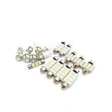 17 шт./лот светодиодный белый внутренний купол для чтения Декор номерной знак комплект светодиодного освещения для автомобиля SUV