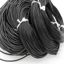 Черная Воловья Кожа Веревка DIY материалы ручной работы аксессуары ПЭТ плетеный из бисера проволока плетеная веревка