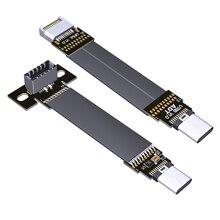 Adtlink usb3.1 24pin interno e tipo a c cabo plano usb c extensão do dispositivo até usb 3.1 gen2, 10g/bps