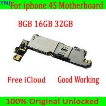 8 ГБ/16 ГБ/32 ГБ для iphone 4S материнская плата с ОС, оригинальная разблокированная для iphone 4S материнская плата с полным чипом