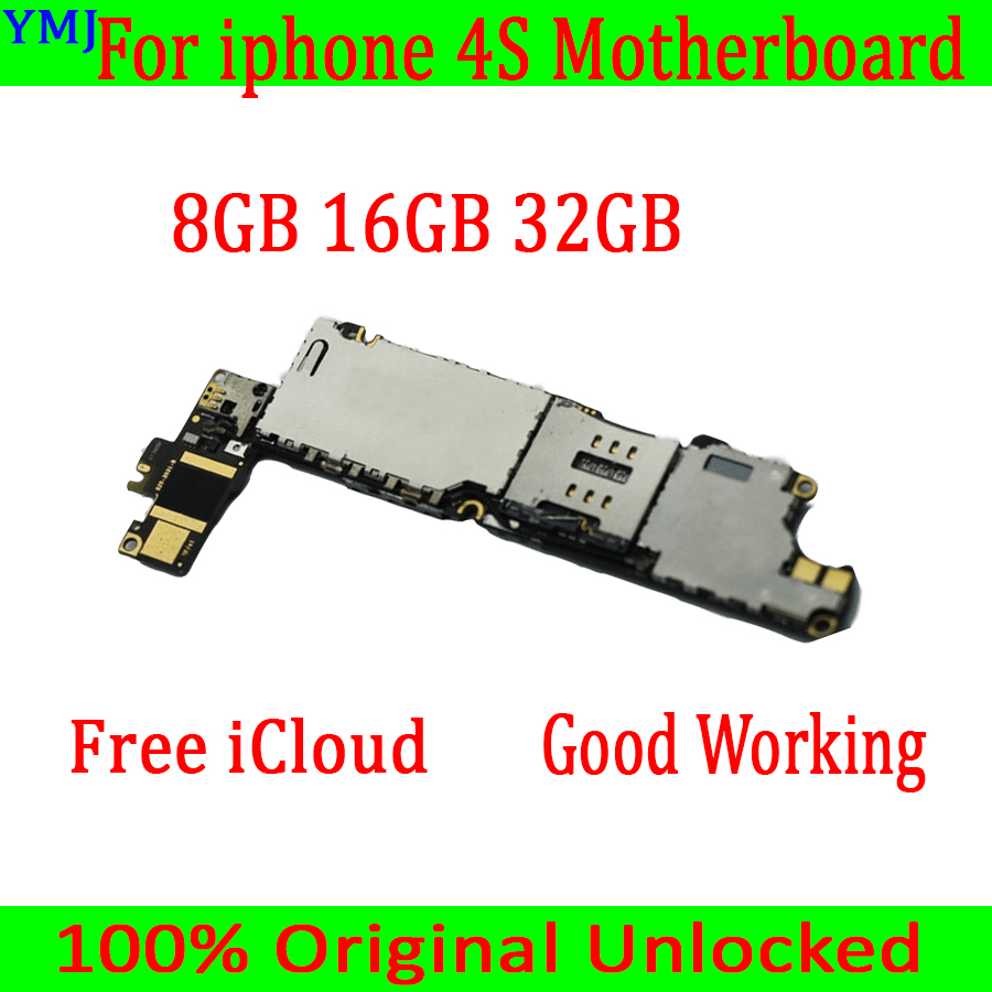 8GB /16GB /32GB For Iphone 4S Motherboard With OS System,Original Unlocked For Iphone 4S Mainboard With Full Chips,Free Shipping