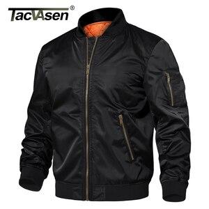 Image 3 - TACVASEN kış askeri ceket dış giyim erkekler pamuk yastıklı Pilot ordu bombacı ceket ceket rahat beyzbol ceketleri üniversite ceketleri
