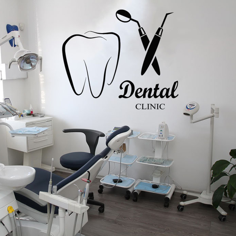 Dental Clinic Wall Decal Dentist Dental care Wall Sticker Teeth clinic  Decoration Accessories Removable Vinyl Tooth Mural X418 Wall Stickers  -  AliExpress