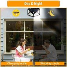 100Led Солнечный настенный светильник для двора четырехсторонний светящийся солнечный светильник индукция человеческого тела водонепроницаемый лестничный светильник