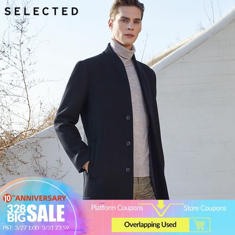 SELECTED Men's Woolen Overcoat New Business Wave Wool Coat SIG|419427561