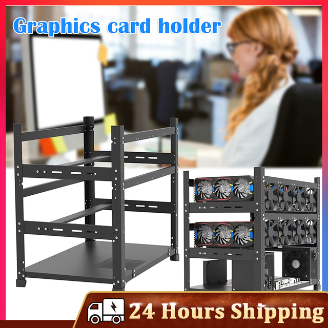 Open Mining Rig Frame for 12 GPU Mining Case Rack Motherboard Bracket ETH ETC ZEC BCH Ether Accessory Tool 3 Layers crypto miner 1