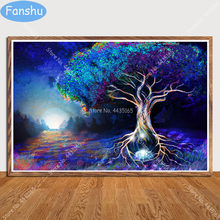 Art Poster Psychedelische Trippy Visuele Abstract Landschap Posters En Prints Muur Decoratie Canvas Schilderij Kinderkamer Home Deco(China)