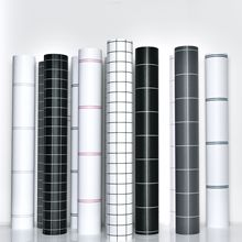 Furniture Wallpaper Bedroom Waterproof Self-Adhesive Gray Dormitory Cement Cabinets Linen