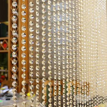 Wysokiej klasy kryształowy szklany koralik kurtyna luksusowy salon zasłona do sypialni dekoracyjne akcesoria okna drzwi Wedding Decor koralik 100cm tanie i dobre opinie Translucidus (stopień zaciemnienia 1-40 ) Kurtyny Otwieranie po lewej i po prawej stronie CN (pochodzenie) Okno Montaż sufitowy
