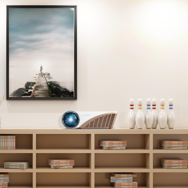 Vivicine V600 Supporto 1080p Proiettore video portatile HD Home Theater LED Smart, Opzione Android 10 HDMI USB Movie Proyector Beamer