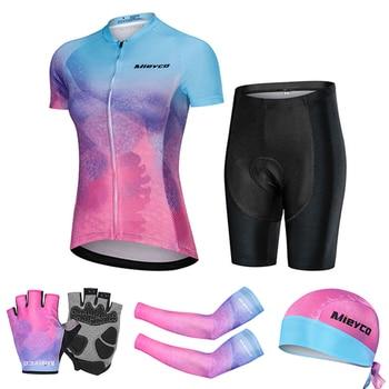 Conjunto de Jersey de Ciclismo Retro para Mujer, Maillot Vtt especializado, Uniforme...