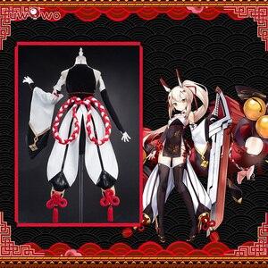 Image 2 - Uwowo Game Azur Lane Ayanami Lin New Year Cheongsam Cosplay Women Girls Chinoiserie Costume