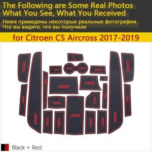 Image 2 - 안티 슬립 고무 컵 쿠션 도어 그루브 매트 시트로엥 c5 aircross 2017 2018 2019 22 pcs C5 Aircross 액세서리 자동차 스티커