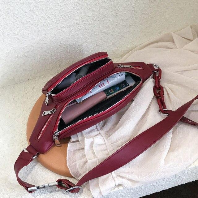 Stone Pattern PU Leather Waist Bag  5