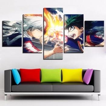 Cuadros de lienzo, marco de arte de pared, 5 piezas de animación,...