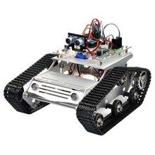 цена на KOOKYE Robot Car Chassis Smart Tank Platform Metal Stainless Steel 2DW Motor 9V for Arduino / Raspberry Pi DIY(TR300)