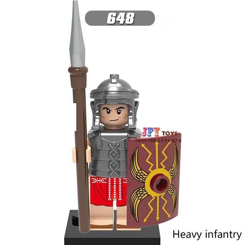 Single Super Heroes Medieval Rome Shock Building Blocks Model Brick Toy For Children Action Figures