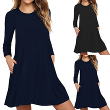 Maternity Dresses Autumn Clothes for Pregnant Women Clothing O-neck Long Sleeve Slim Pregnancy Dress