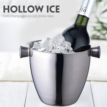 Ice Bucket Insulated Stainless Steel Double Walled Ice Bucket With Lid and Whiskey Chilling Stones for Beer Wine Cooler 4 Styles rechargable led ice bucket 5 liter illuminated party cooler hennessy mini rechargeable led ice bucket