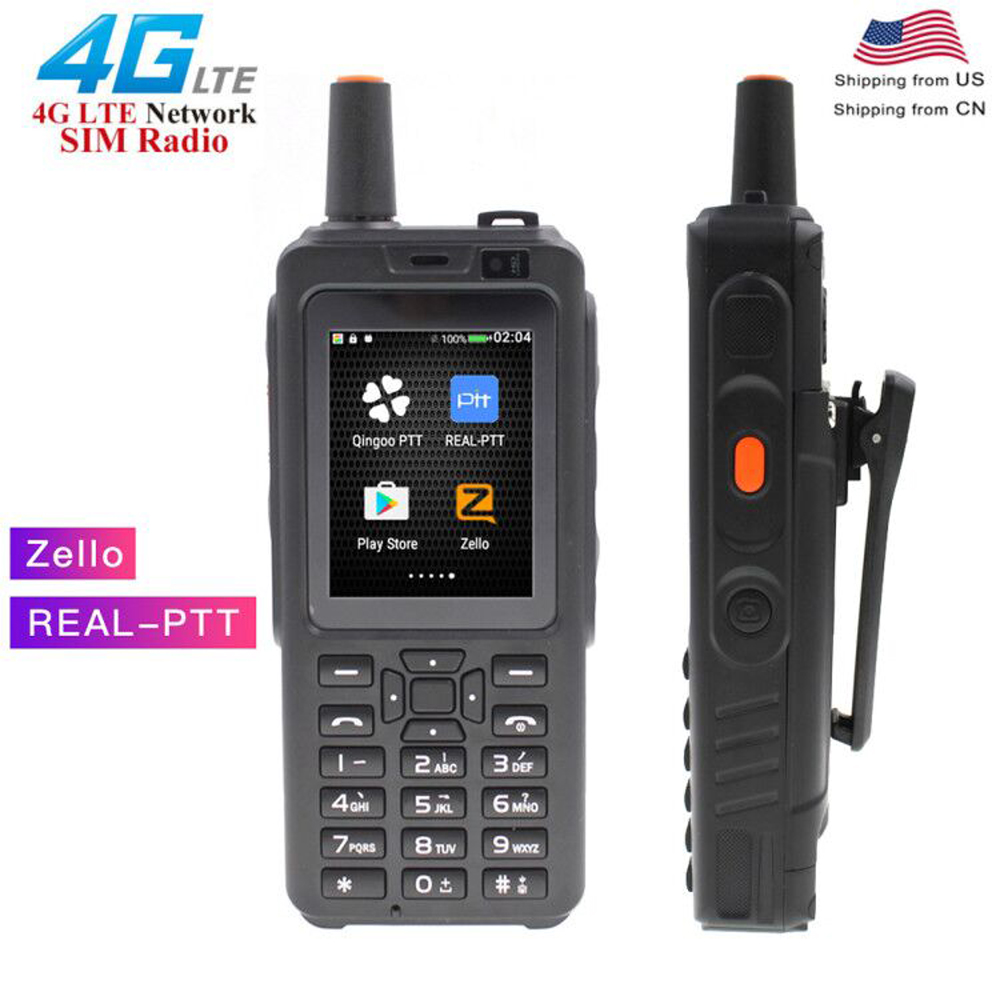 ANYSECU 4G Phone Radio 7S+ 4G LTE POC Telefono Walkie Talkie Android 6.0 Zello Real-PTT Dual SIM Long Distance Fm Transceiver