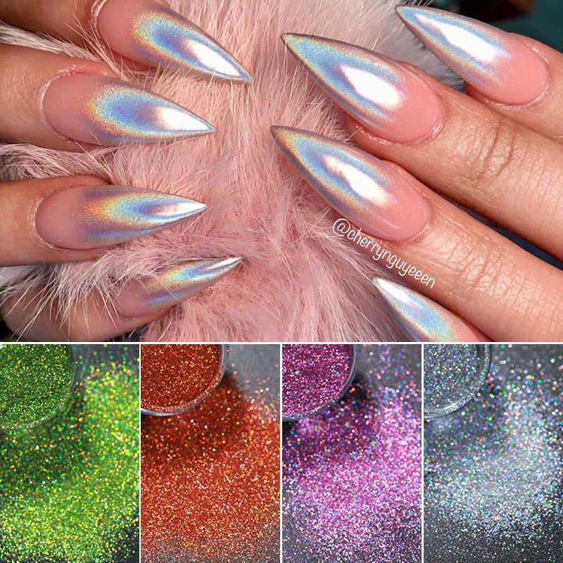 1Box 0.2g Pigment kameleon Duochrome lustro w proszku chromowany Pigment Galaxy Glitter kolor kurzu paznokci (czarna podstawa kolor potrzebny)