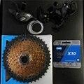 MTB 1X10 Скорость группа переключения задний переключатель 10 S 42T кассета K7 группа набор для частей m610 m670 x5 x7 Одиночная система коленей