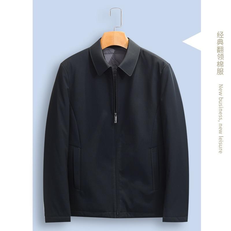 Мужская одежда с хлопковой подкладкой, деловая одежда для отца, мужское зимнее пальто для мужчин среднего возраста, куртка с хлопковой подкладкой с лацканами для мужчин|Парки| | АлиЭкспресс
