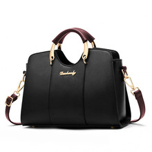 2019 Handbag Lady Shoulder Bag Brand Fashion Leather Retro Messenger Letter