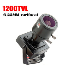 Micro vídeo 6 22mm lente varifocal mini câmera 1200tvl lente ajustável metal vigilância de segurança cctv câmera carro ultrapassagem