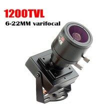 Micro video 6 22mm lens Varifocal Mini Camera 1200tvl Adjustable Lens Metal  Security Surveillance CCTV Camera Car Overtaking