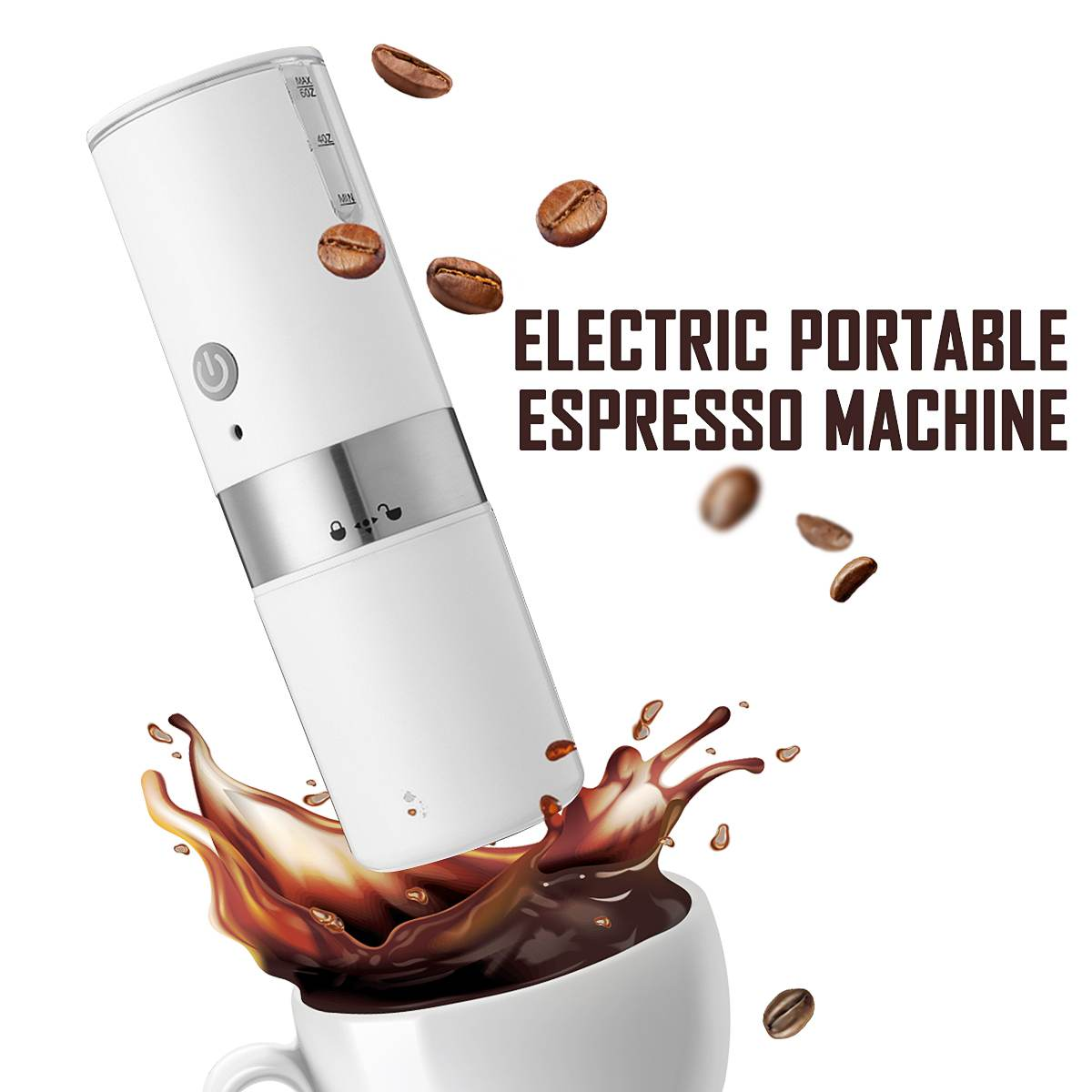 200ml Portable Coffee Machine Capsule Expresso Maker with Built-in Filter Electric USB Handheld Coffee Grinder For Home Travel