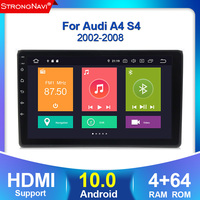 4G lte DSP IPS Android 10.0 4G 64G CAR GPS For Audi A4 B6 B7 S4 B7 B6 RS4 B7 seat exeo dvd player radio WIFI BT built in CARPLAY