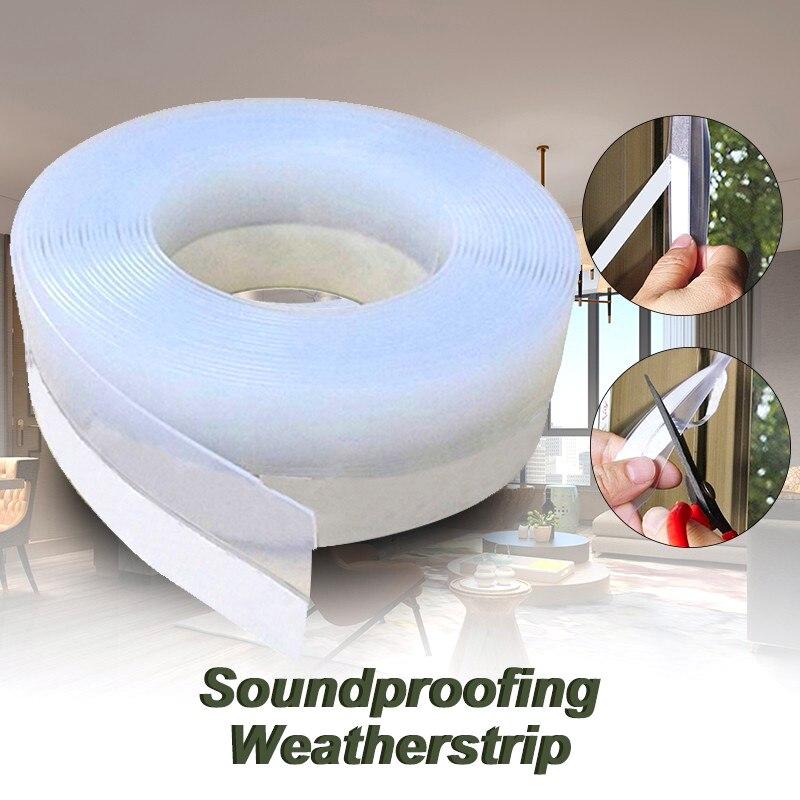 Door Window Seal Multi-function Draught Dust Insect Seal Self-adhesive Soundproofing Weatherstrip Door Seam Waterproof Strip