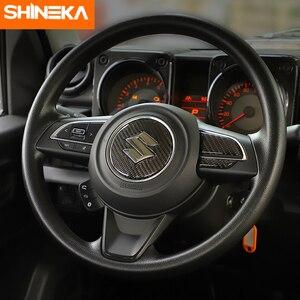 Image 2 - SHINEKA adesivi in fibra di carbonio per Suzuki Jimny 2019 coprivolante per pulsante centrale volante per Suzuki Jimny 2019 2020