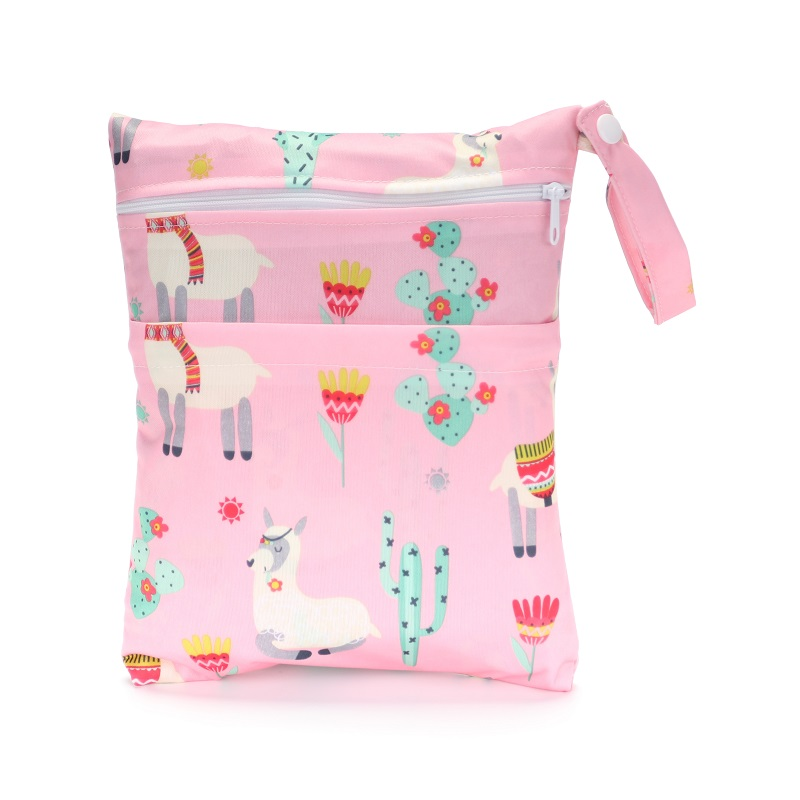 [CHOOEC] 2020 New Size 20 * 25cm Diaper Bag Baby Clothes Changing Bag Simple Mommy Bag Double Zipper Diaper Bag