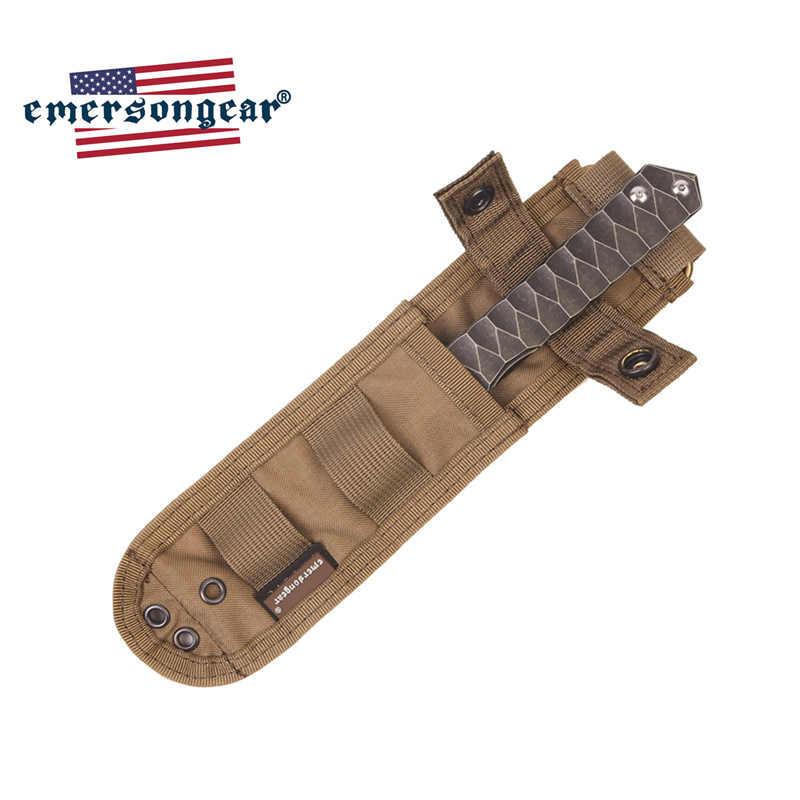 Emersongear Tactical Knife Case Knife Bag MOLLE Combat Hunting Survival Knife Pouch Military Army  Multicam Knife Pouch