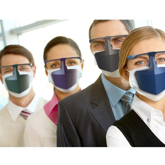 Reusable Face Shield Protective Facial Mask Anti Fog Droplets Saliva Anti-Splash Dust Isolating Face Visiere protection Visor 5