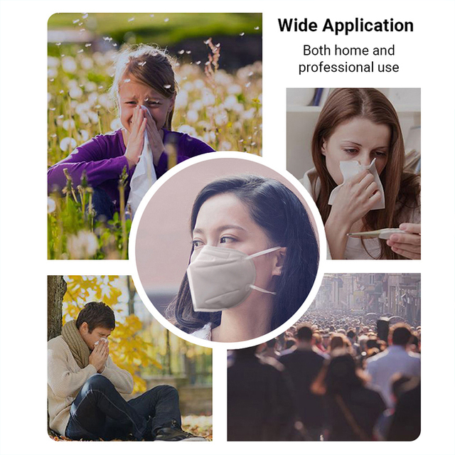 KN95 Disposable Face Mouth Mask Anti Flu Safe Mask 4 Layers Filter Dustproof Non Woven Protective Mouth Masks Fast Shipping 5