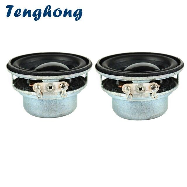 Tenghong 2pcs 36MM Mini Portable Audio Full Range Speakers 16 Core 4Ohm 3W PU Side Loudspeaker DIY Home Theater Sound System