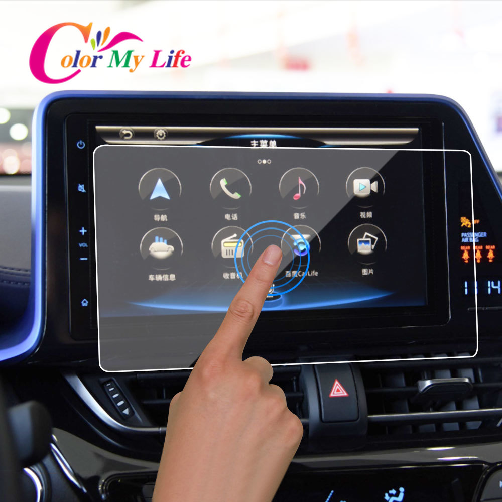 GPS Car Navigation Tempered Protection Film LCD Screen Sticker Film For Toyota CHR C-HR 2019 2018 2017 Interior Accessories