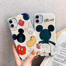 Cartoon Mickey Minnie soft silicone phone case For iphone 11 Pro Max XS MAX X XR blu ray cover For iphone 7 8 plus glossy case(China)